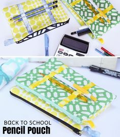 Pencil Pouch // Sewing Tutorial // By Stef Knaus