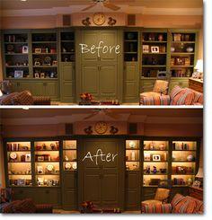 Cabinet Lighting With Custom Light Fixtures Led Shelf Lights
