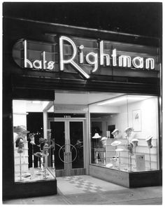 Rightman Hats, Westwood Blvd., Los Angeles, 1938.