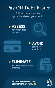 Pay off debt faster with USAA. These simple steps will help you get a handle on your debt. Tap the Pin to learn more.