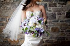puprple & white bouquet-matthew robbins design