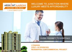 Arihant Aarohi  Kalyan Shill Road - 1 2 & 3 BHK Flats - 3 Towers, Stilt+18 Storeyed, Residential Cum Commercial Project Close proximity to hospitals http://www.asl.net.in/arihant-aarohi.html #ArihantAarohi #RealEstate #Homes #Property #Residential #Commercial #KalyanShillRoad