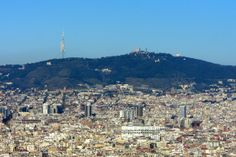 montjuic hill | From Montjuïc I could also enjoy this view of Tibidabo Hill