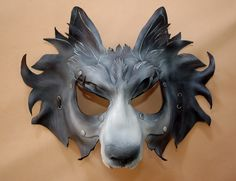 Direwolf Game of Thrones House of Stark Inspired Leather Grey Wolf  Cosplay Mask