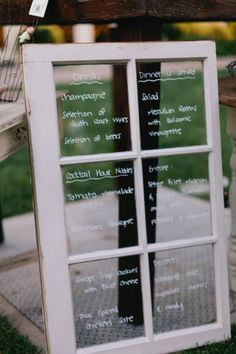 We'll probably never tire of the Wedding Menu on Glass ;)