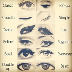 Makeup eyeliner feline make up 30 ideas Diy Makeup Eyeliner, Eyeliner For Big Eyes, Eyeliner Types, Perfect Eyeliner, Eyeliner Looks, Winged Eyeliner, Hair Makeup, Eyeliner Pencil, White Eyeliner