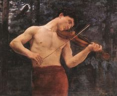 Károly Ferenczy (Hungarian painter) 1862 – 1917 Orpheus, 1894 oil on canvas x cm x in. Art Magique, Victor Vasarely, Art Of Man, Art Database, Male Figure, Greek Mythology, Classical Mythology, Classical Music, Art Music