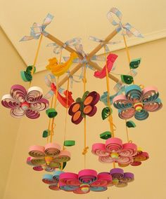 READY TO SHIP Baby Mobile   Nursery Mobile  Quilled by tsipouritsa, $210.00