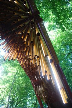 A kinetic sculpture bridge, with 600 chimes underneath.  A musical walk through the forest no doubt.