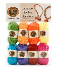 Take a look at this Crayons Bonbons Yarn Set by Lion Brand on #zulily today!