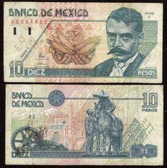 Billete de 10 pesos.