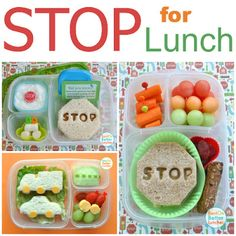 Fun car themed lunch ideas | packed in @EasyLunchboxes