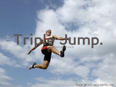 Triple Jump Love it. Long Jump, High Jump, T Track, Triple Jump, Track Quotes, I Love To Run, Shot Put, Pole Vault, Sport Icon