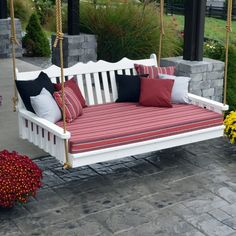 54 best backyard garden swing seats for summer Outdoor Glider, Outdoor Sofa, Outdoor Furniture, Outdoor Decor, Garden Swing Seat, Patio Swing, Swing Beds, Deck Patio, Backyard Swings