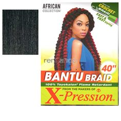 Sun Aug 7, 2016 - #10: African Collection Bantu Braid  - Color 1B - Synthetic Braiding