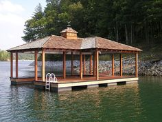 See our signature series custom dock options available at Kroeger Marine Construction, serving Lake Keowee and surrounding areas. Floating Boat Docks, Dock House, Boat Garage, Lake Dock, Lake House Plans, Lakeside Living, Lakefront Property, Lake Cabins, Gazebo