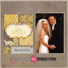 Wedding Blissful Square Simple Layout