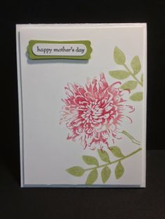 Blooming With Kindness  Mother's Day Card Stampin' Up! Rubber Stamping Handmade Cards
