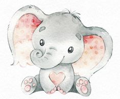 how to draw a pineapple Baby Elephant Drawing, Baby Animal Drawings, Elephant Love, Elephant Art, Elephant Nursery, Nursery Art, Cute Drawings, Elephant Drawings, Cute Illustration