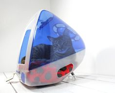 IMac computer cat bed!!! ahahahah I have to show this to my sister!!!