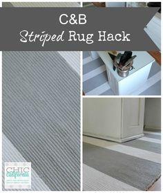 C&B Striped Rug Hack