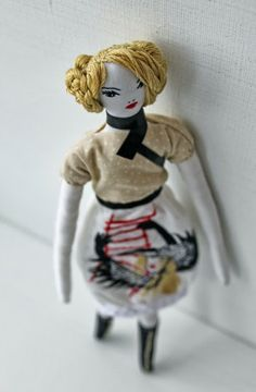 Embroidered cloth doll ~Image © Nadya Sheremet, 2013