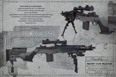 Brown Safe's M1A Socom II from Springfield Armory. I considered this idea, but the cqb and the bi-pod don't go together.