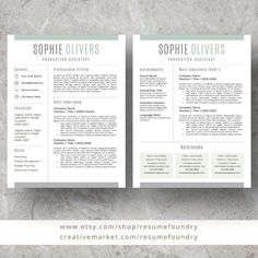 Modern Resume Template for Word, Page Resume + Cover Letter + Reference Page Resume Writing Tips, Resume Tips, Resume Examples, Resume Skills, Job Resume, Cover Letter For Resume, Cover Letter Template, Letter Templates, Modern Resume Template