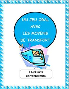 Practice methods of transport in French and the verb ALLER with this magic circle game.