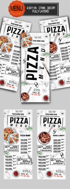 Pizza Menu Template PSD The Effective Pictures We Offer You About pizza box A quality picture can te Design Menu Pizza, Design Pizzeria, Pizzeria Menu, Restaurant Menu Design, Menu Board Design, Pizza Flyer, Pizza Truck, Menu Flyer, Logo Pizza