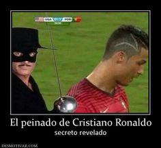 El peinado de Cristiano Ronaldo secreto revelado
