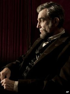 Daniel Day-Lewis as Lincoln  //Steven Spielberg's new film Lincoln is being tipped for Oscar success after a high profile 'surprise' screening at the New York Film Festival.  //BBC News - Lincoln Oscar buzz follows screening at NY Festival