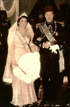 King Farouk and Queen farida