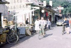 35mm Slide Hong Kong Village Near Shatin Street Scene Market Kodachrome 1966
