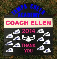 To Our (My) Cheerleading Coach Personalized Cheerleader Gift on ...