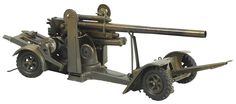 June 22nd Auction. Lineol Heavy Field Howitzer in Gray. #ToySoldiers #MorphyAuctions