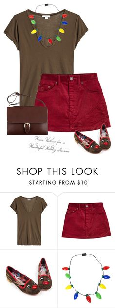 """Rudolph"" by mimas-style ❤ liked on Polyvore featuring James Perse, Marc Jacobs and Irregular Choice"
