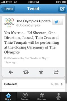 one direction and ed sheeran are performing at the closing ceremony. ♥♥♥♥ YES I SHALL WATCH IT! 50 Shades Darker, Hottest Guy Ever, Five Guys, Irish Boys, Im Excited, Ed Sheeran, One Direction, Cool Bands, Good To Know