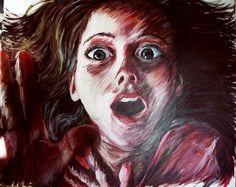 Fear Painting by Charlotte Estelle Littlehales, via Behance