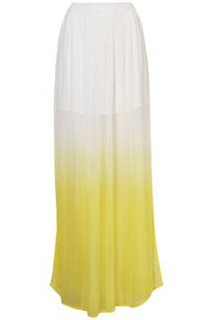 Beautiful Ombre/Dip-dye skirt! Perhaps a new DIY?