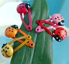 Ladybug Hairclips
