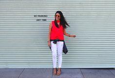 White jeans in summer   La Vie de Villa #fashion #streetstyle #blogger