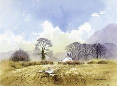 How to paint foregrounds in watercolour with David Bellamy #LandscapingSketch