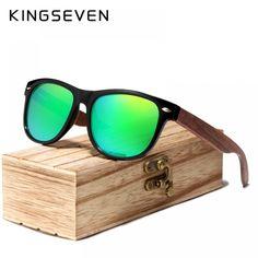 760c4bc2bb7 Sun glasses · KINGSEVEN 2019 Black Walnut Sunglasses Wood Polarized  Sunglasses Men UV Protection Eyewear With Wood Box Oculos
