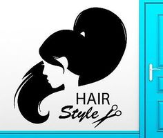 Custom Personalized Professional Business Name And Logo Wall - Custom vinyl wall decals for hair salon