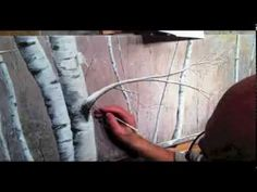 ▶ Winter Birch Forest - Acrylic Painting Time Lapse Video - YouTube