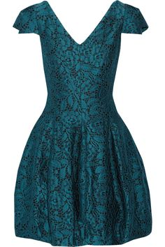 Halston Heritage | Lace-jacquard mini dress | NET-A-PORTER.COM
