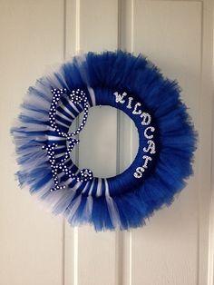 frozen door tutu | Kentucky Tutu Tuile Wreath by HandmadeByHeather5 on Etsy, $45.00