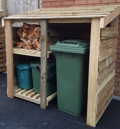 Details about Refuse Wheelie Bin Recycling Store (Local Delivery Availible) - Recycling Bin Storage, Shed Storage, Storage Bins, Garbage Can Storage, Garbage Shed, Triple Bin Store, Bin Store Garden, Bin Shed, Outside Storage