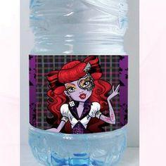 étiquette bouteille Monster high Opéreta  nous pouvons insérer un texte , une date , un évènement sur vos étiquettes gratuitement !!!!